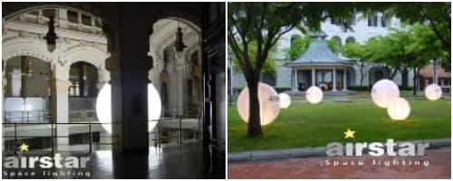 ejemplos de eventos con globos luminosos Airstar
