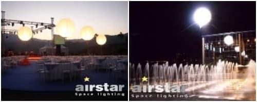 globos luminosos suspendido Airstar