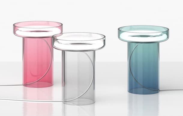 lámpara de mesa de vidrio soplado HALO