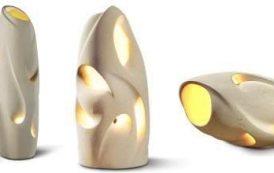 Lámparas de piedra tallada, por artesanos de Artefare