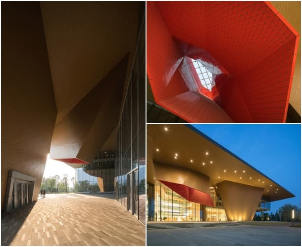 lucernarios Centro de Exposiciones de Nankín