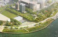 Parque en la orilla del rio Huangpu, Shanghái