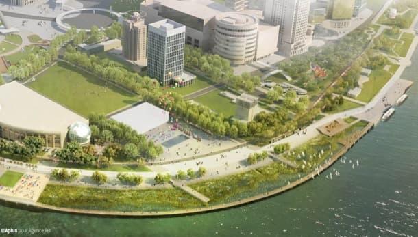 remodelación a orillas del rio Huangpu Shanghai