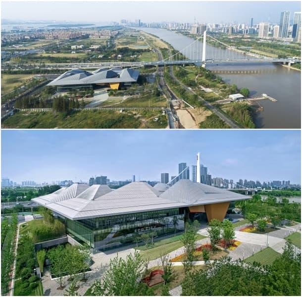 vistas aéreas Centro de Exposiciones de Nankín