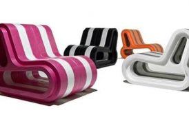 Sofa Q: compuesto por módulos de plástico