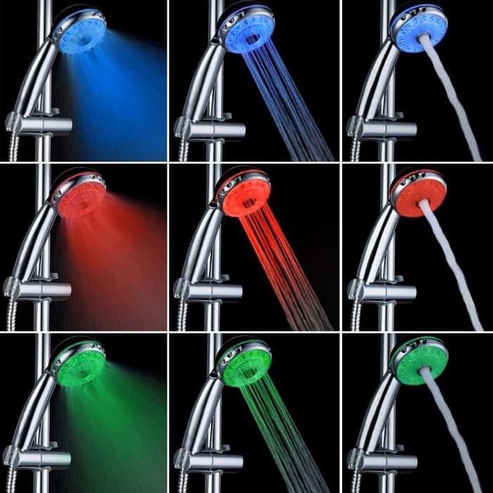 ducha LED según temperatura