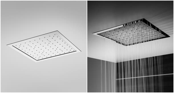 Duchas de lluvia empotradas de la firma rogerseller for Ducha de lluvia techo
