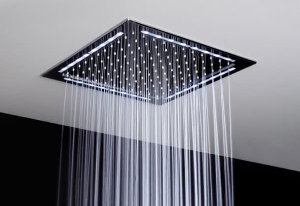Ducha de lluvia con led perimetral de la marca for Ducha de lluvia techo