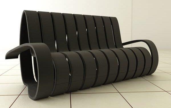 Velvet: cuando una espiral de madera crea el sofá