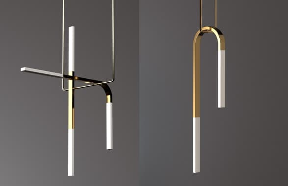 L mparas colgantes minimalistas hechas de metal y porcelana acrobat - Lamparas colgantes minimalistas ...