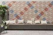 Weave: revestimiento en relieve, con textura textil