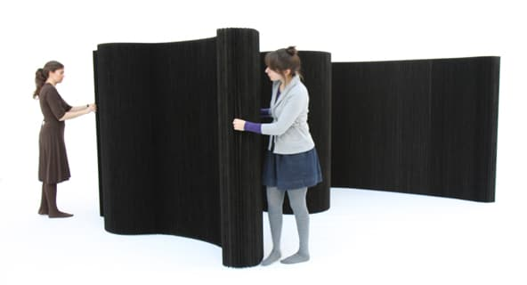 tabique flexible Softwall negro